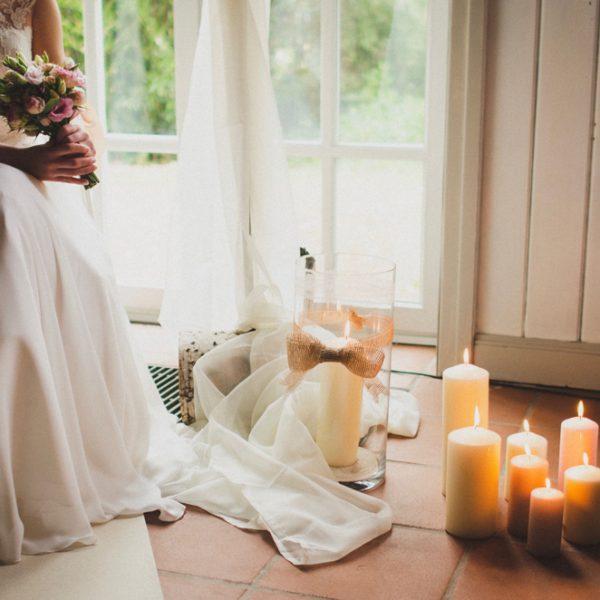 Trauzeremonie Kerzen Caroline und Sean