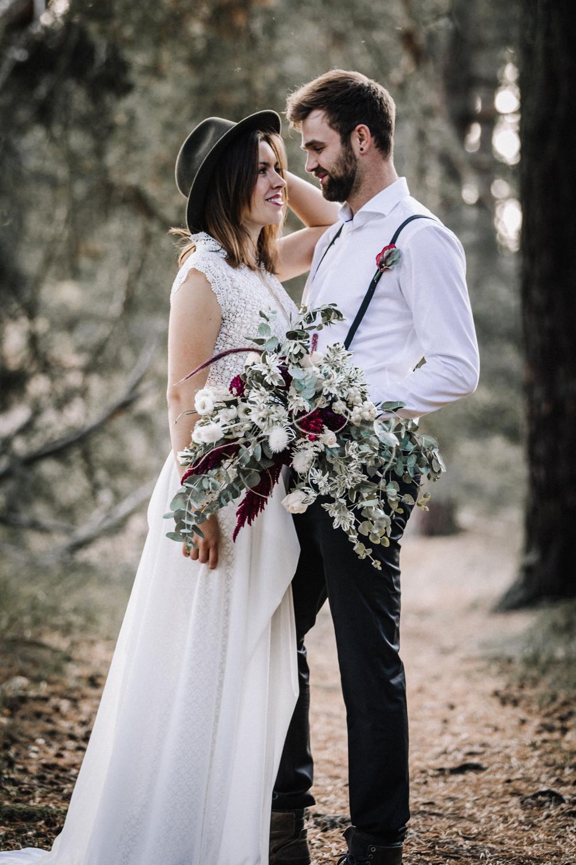 Brautpaar im Wald, Maron Flemming